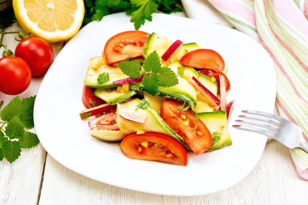 Receta de Ensalada Zucchini (calabacín)