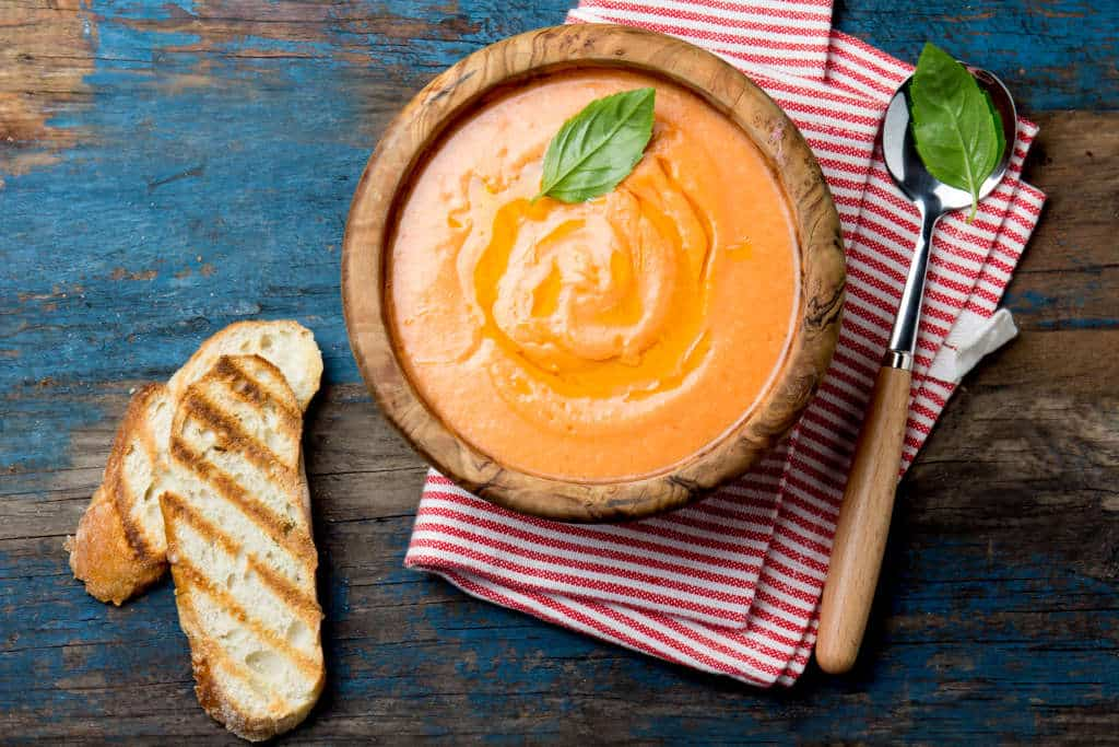 Receta de Sopa Crema de Tomate