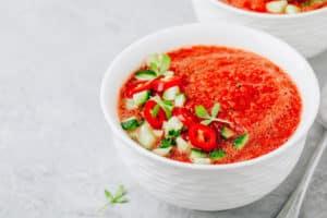 Receta de Sopa Fría de Sandía