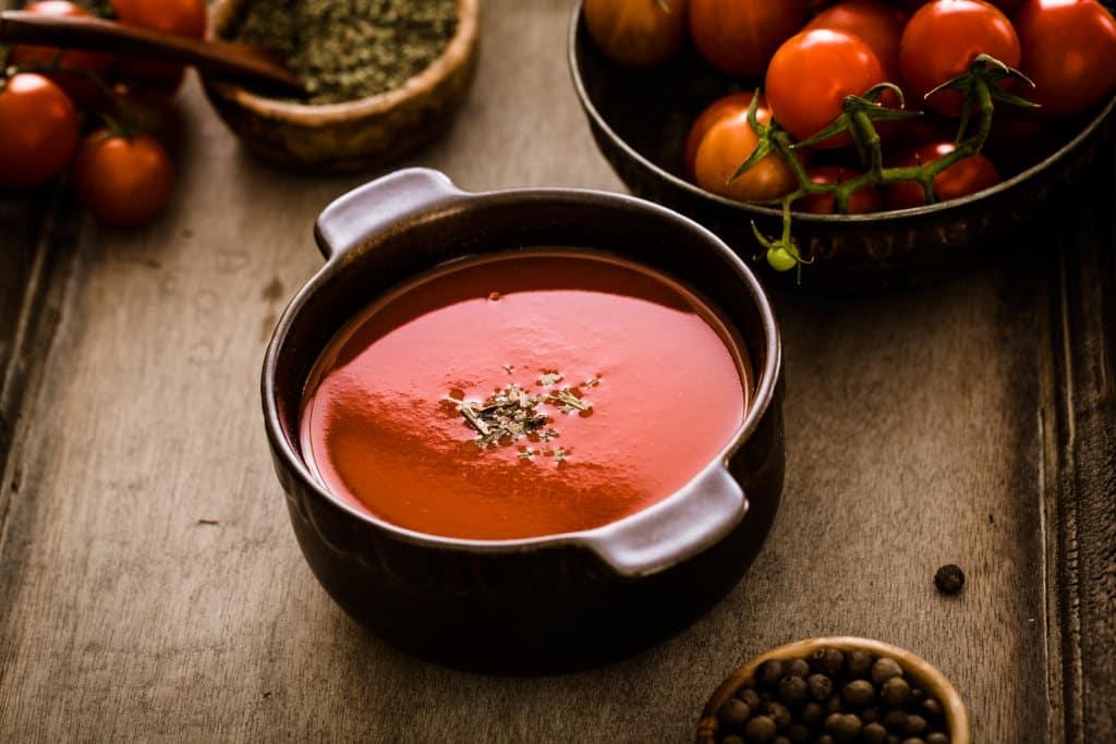 Receta de Sopa Fría de Tomate