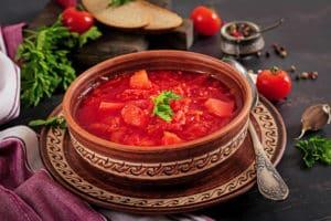 Receta de Sopa de Remolacha