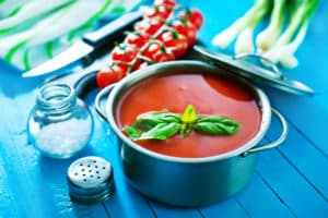 Receta de Sopa de Tomate y Cebolla