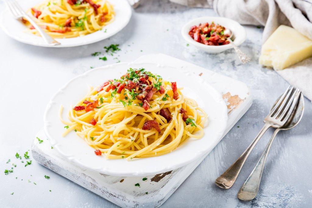 Receta de Pasta Carbonara Original