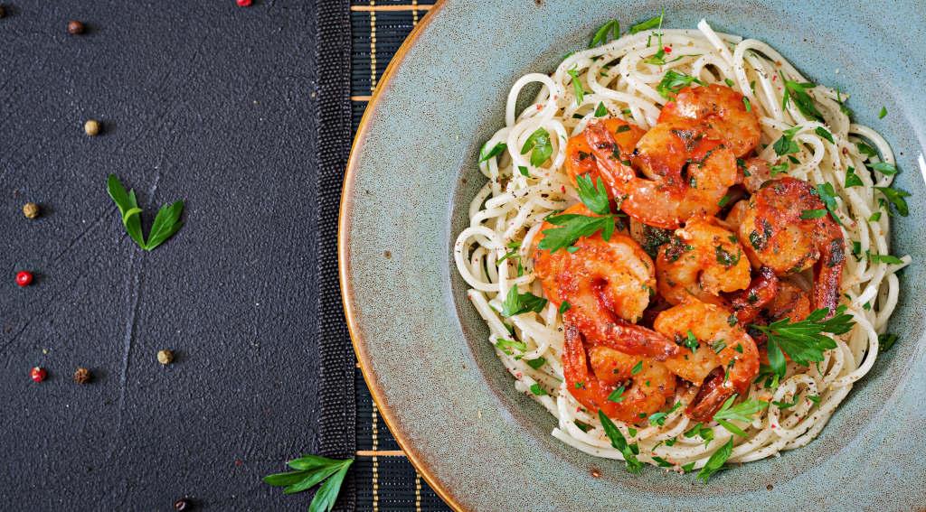 Receta de Pasta Linguini con Camarones