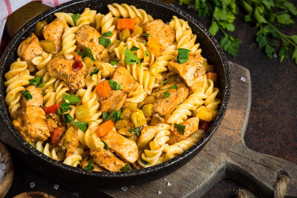 Receta de Pasta Tricolor con Pollo