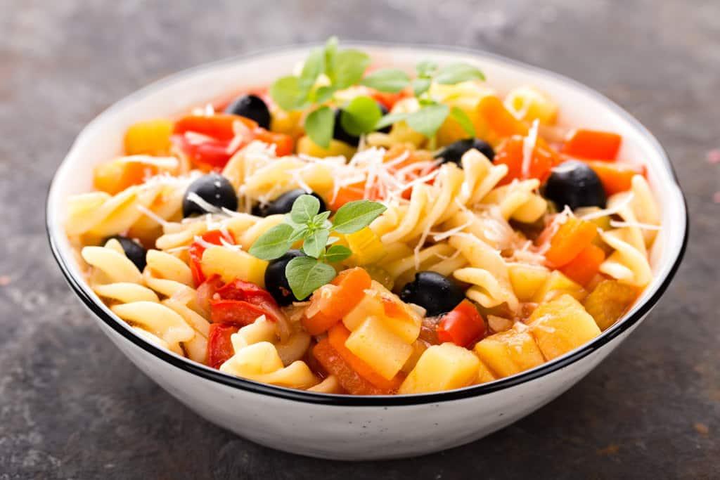 Receta de Pasta Tricolor