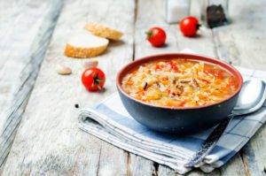 Receta de Sopa de Arroz con Pollo
