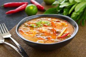 Receta de Sopa de Camarones