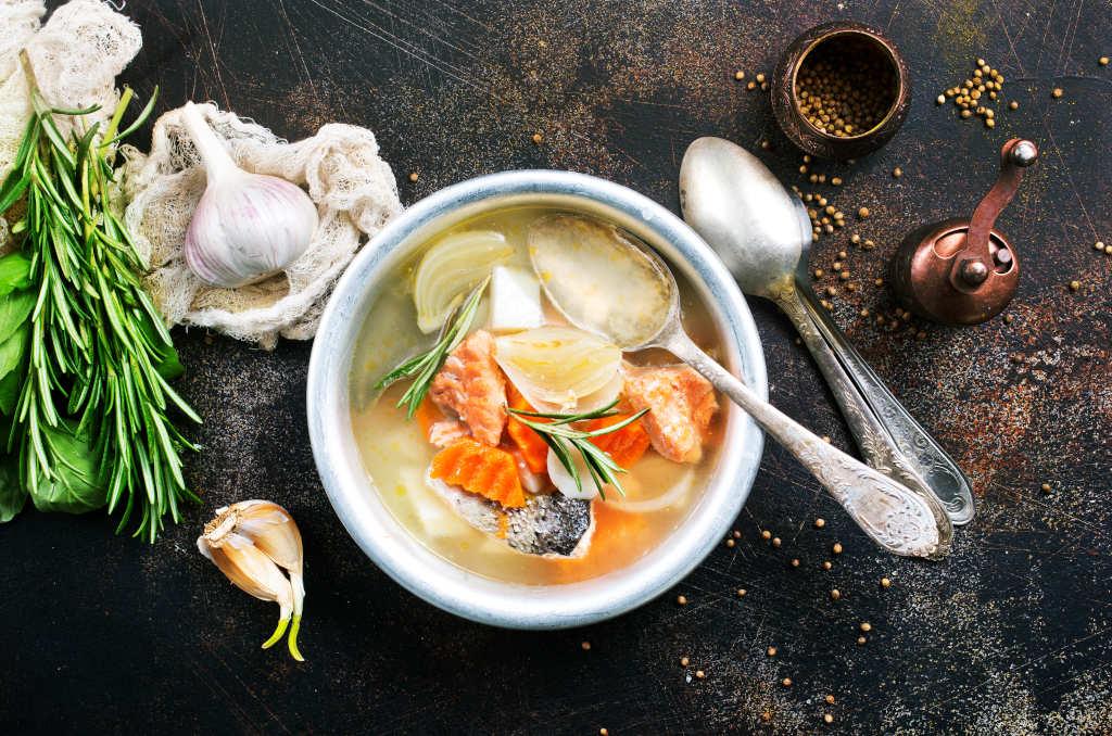 Receta de Sopa de Pescado Italiana