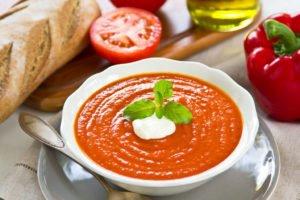 Receta de Sopa de Pimientos Rojos