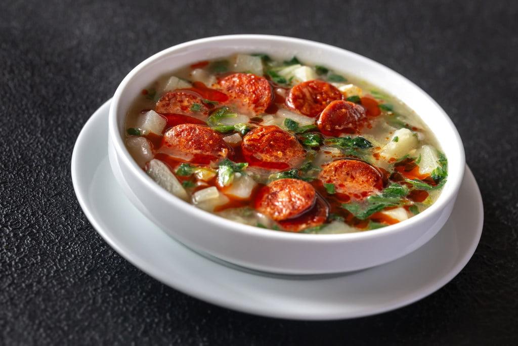 Receta de Sopa de Verduras con Salchicha