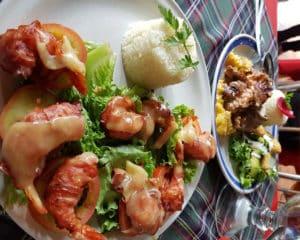Receta de Camarones con Tocino