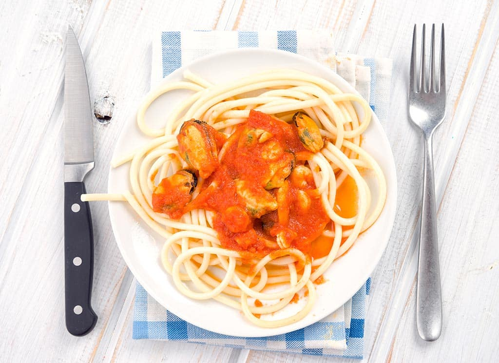 Receta de Camarones con Espagueti