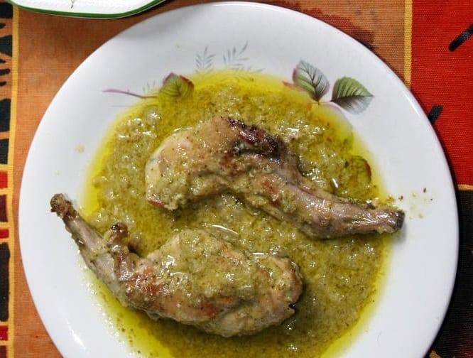 Receta de Conejo en Salsa Verde