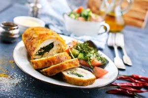 Receta de Pollo Relleno con Jamón y Queso