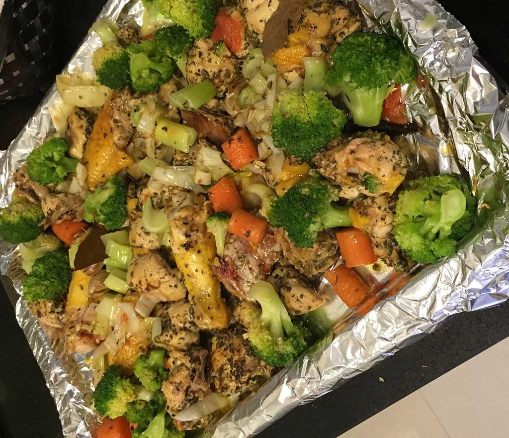Receta de Pollo y Verduras