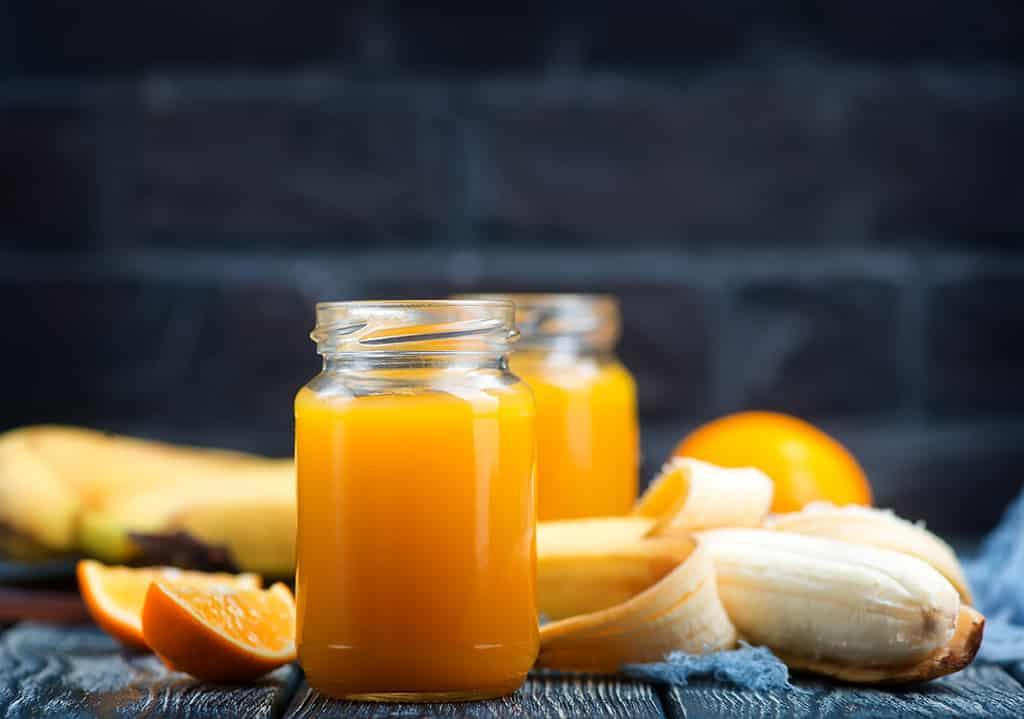 Receta de Jugo de Naranja y Plátano