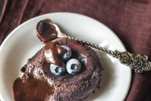 Receta de Pastel Lava de Chocolate