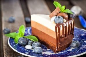 Receta de Pastel de Tres Chocolates