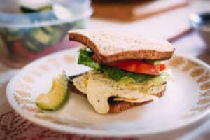 Receta de Sándwich de Huevo
