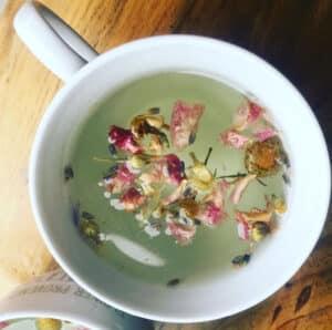 Receta de Té de Rosas