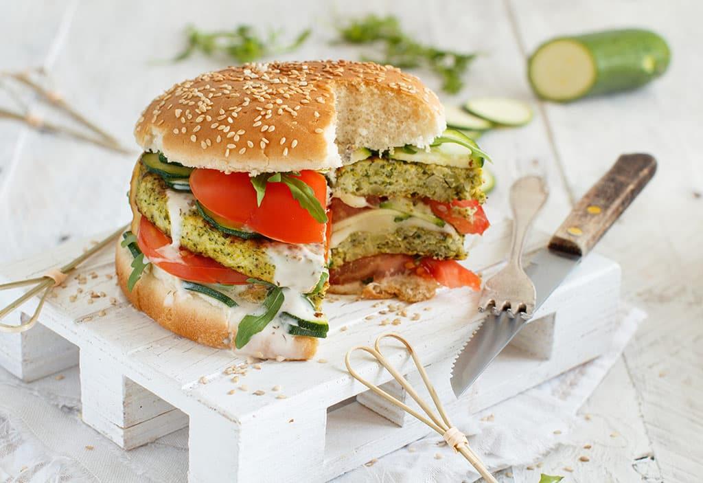 Receta de Hamburguesas de Zucchini