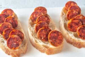 Receta de Sándwich de Chorizo