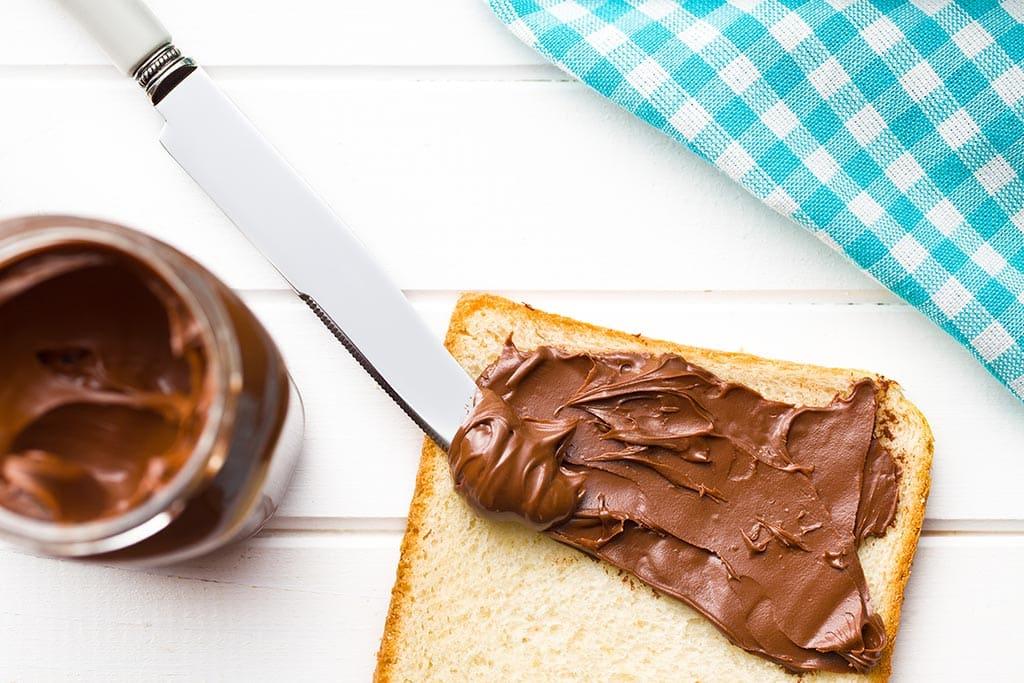 Receta de Sándwich de Nutella