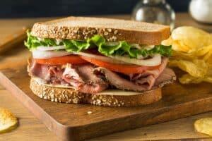 Receta de Sándwich de Roast Beef