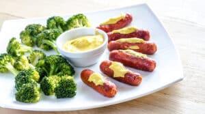 Receta de Salchichas con Brócoli