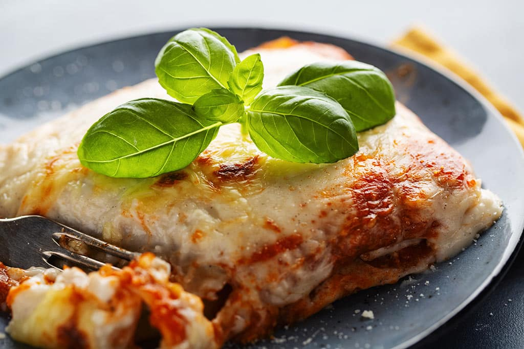 Receta de Lasaña con Queso Mozzarella