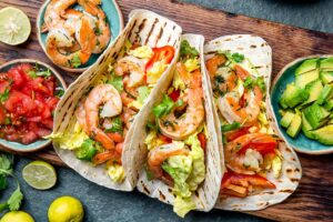 Receta de Tacos con Camarones