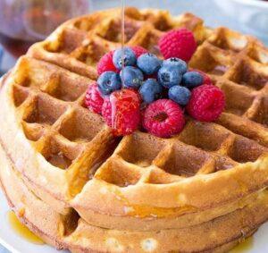 Receta de Waffles Belgas Sin Gluten