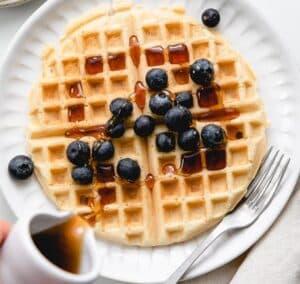 Receta de Waffles Veganos
