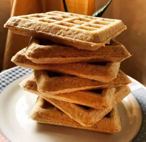 Receta de Waffles de Avena