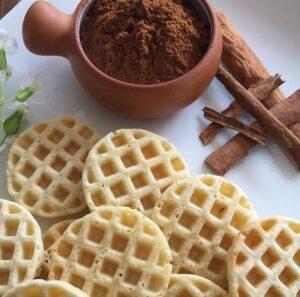 Receta de Waffles de Canela