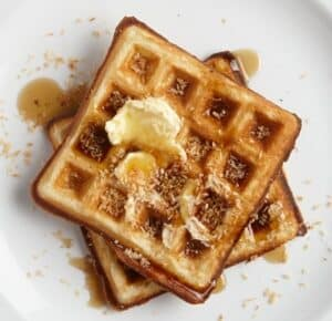 Receta de Waffles de Coco