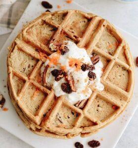 Receta de Waffles de Zanahoria