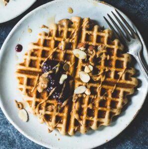 Receta de Waffles con Harina de Arroz