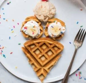 Receta de Waffles con Helado