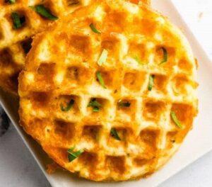 Receta de Waffles con Huevo y Queso
