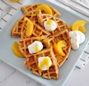 Receta de Waffles de Durazno