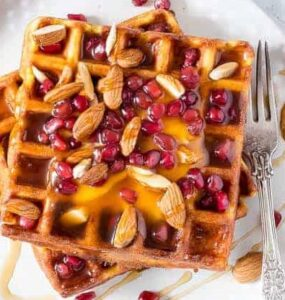 Receta de Waffles de Mango