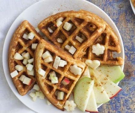 Receta de Waffles de Manzana