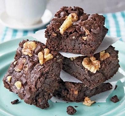 Receta de Brownies con Nueces