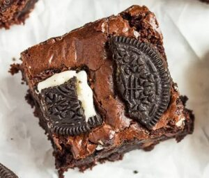 Receta de Brownies de Galleta Oreo