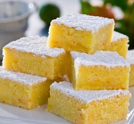 Receta de Brownies de Limón