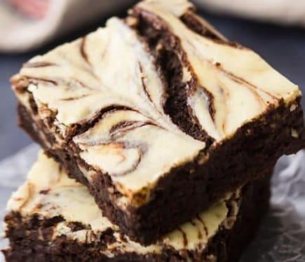 Receta de Brownies de Queso Philadelphia