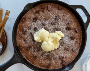 Receta de Brownies en Sartén